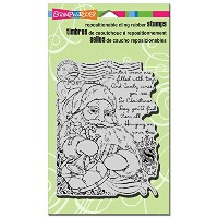 """Stampendous Christmas Cling Rubber Stamp 4""""X6"""" Sheet-Santa Collage (並行輸入品)"""