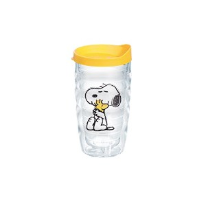 Tervis Peanuts Snoopy and Woodstock Wavy Tumbler with Yellow Lid, 10-Ounce by Tervis