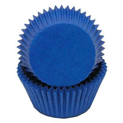 Golda's Kitchen 100 Count Solid Baking Cups, Mini, Blue