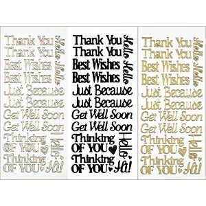 Dazzles Stickers 3/Pkg-Everyday Greetings (並行輸入品)