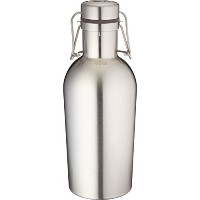 Kegco KC GR32DW-SS Double Wall Beer Growler, 32 oz, Stainless Steel by Kegco