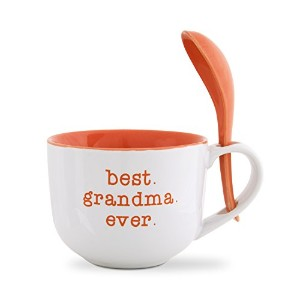 Pavilion Gift Company 14118 Best Grandma Soup Bowl with Spoon, 16-Ounce, Mom Love by Pavilion Gift Company