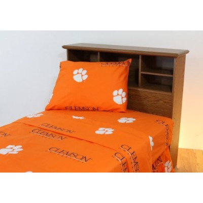 College Covers Clemson Tigers Printed Solid Sheet Set, Full by College Covers [並行輸入品]