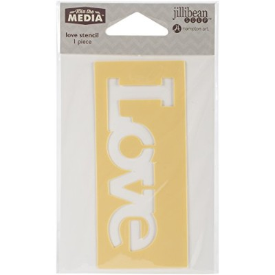 "Mix The Media Word Stencil 6""-Love (並行輸入品)"