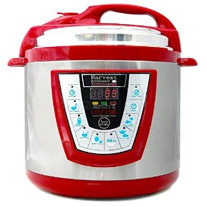 Harvest Cookware Pressure PRO Automatic 1 Touch Pressure Cooker 6-Quart, Red by Harvest Cookware