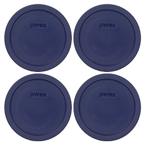 Pyrex Blue 3 Cup Round Storage Cover #7401-PC for Glass Bowls by Pyrex