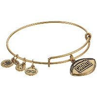 Alex and Ani 「NFL」New York Giants Football拡張可能バングルブレスレット  One Size