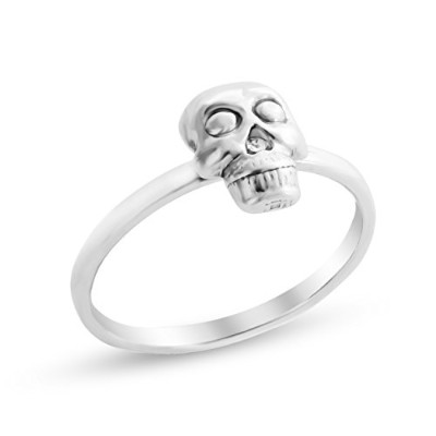 925 Sterling Silver Stackable Halloween Skull Ring (9)