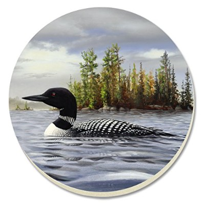 CounterArt Loon on Lake Absorbent Coasters, Set of 4 by CounterArt