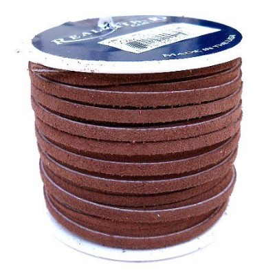 Lace Lacing Leather Suede Dark Brown 25 Yard Spool by Dangerous Threads