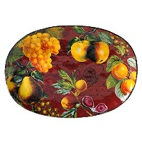 Certified International by Tre Sorelle植物フルーツOval Platter 17 by 12.5-Inch 44208