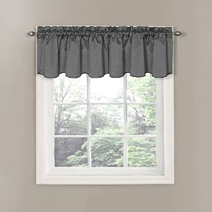 Eclipse Canova Blackout Window Valance, 42 by 21-Inch, Charcoal by Eclipse Curtains