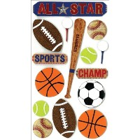 Jolee's Boutique Dimensional Stickers-All Star (並行輸入品)