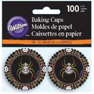 Wilton 415 – 3176 Deadly Soiree Baking Cups、Mini、アソートカラー