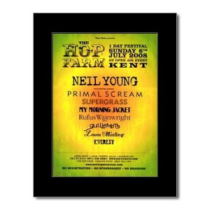 NEIL YOUNG - Hop Farm Festival 6th July 2008 Mini Poster - 28.5x21cm