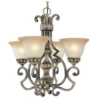 Classic Lighting 92714 HRW Westchester, Wrought Iron, Chandelier, Honey Rubbed Walnut by Classic...