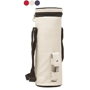 Observ Insulated Wine Tote Bag, Pearl White - Wine Bottle Carrier with Bottle Opener by Observ