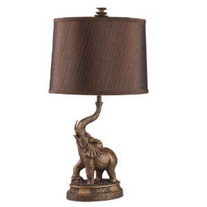 ORE International 8025 27-Inch Bronze Elephant Table Lamp by ORE