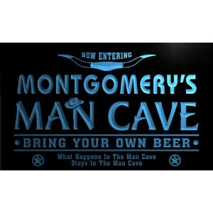 ネオンプレート サイン 電飾 看板 バー pb1211-b Montgomery's Man Cave Cowboys Bar Neon Light Sign