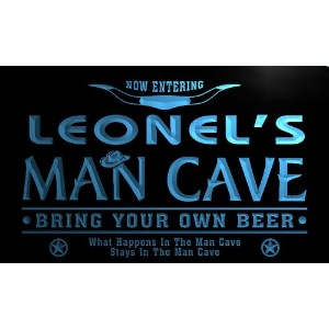 ネオンプレート サイン 電飾 看板 バー pb775-b Leonel's Man Cave Cowboys Bar Neon Light Sign