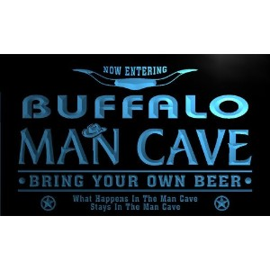 ネオンプレート サイン 電飾 看板 バー pb2120-b Buffalo State Cities Man Cave Cowboys Bar Neon Light Sign