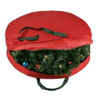 Elf Stor Supreme Canvas Holiday Christmas Wreath Storage Bag For 30 Wreaths by Elf Stor