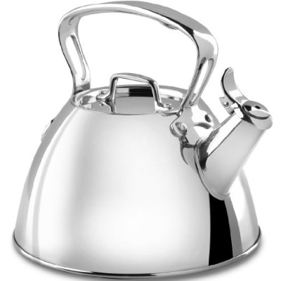 【並行輸入】All-Clad E86199 Stainless Steel Specialty Cookware Tea Kettle, Silver ステンレス製 やかん