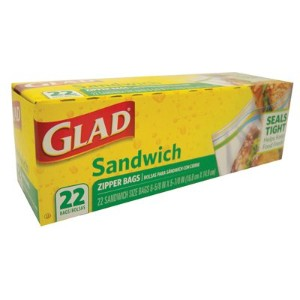 Glad Sandwitch Zipper Bags (22 Bags in 1 Package) by Glad