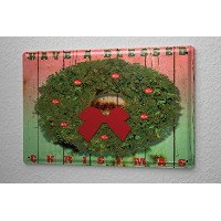 M.A. Allen Retro Tin Sign ブリキ看板 U.S. Blessed Christmas decoration Christmas greetin