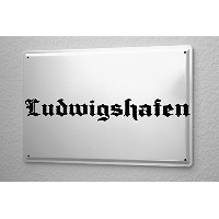 Tin Sign ブリキ看板 Ludwigshafen City Name City City Name capital cities Large Met