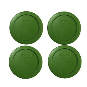 Pyrex Green 2 Cup Round Storage Cover #7200-PC for Glass Bowls, by Pyrex