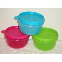Tupperware Ideal Little Kidsボウルセット3 2014新しい色by Tupperware