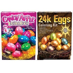 Easter Egg Bling Dye Bundle 24k & Candy Apple Kits by Easter Unlimited