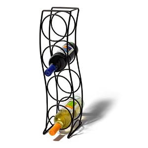 Spectrum 38310 Curve Wine Rack, 4 Bottle, Black [並行輸入品]