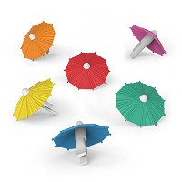 Fred & Friends MY TAI Umbrella Drink Markers, Set of 6 by Fred & Friends
