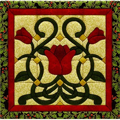 "Christmas Tulip Quilt Magic Kit-12""X12"" (並行輸入品)"