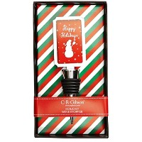 C.R. Gibson Decorative Wine Bottle Stopper, Happy Holidays [並行輸入品]