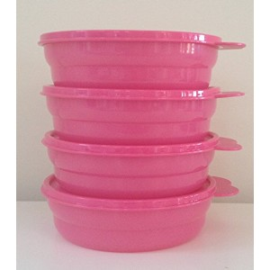 Tupperware Microwave Reheatable Cereal Bowl Set Pink by Tupperware