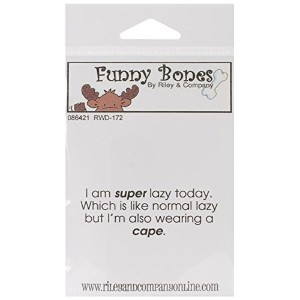 "Riley & Company Funny Bones Cling Mounted Stamp 2""X1.25""-Super Lazy (並行輸入品)"