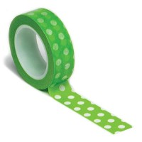 Trendy Tape Core Collection 15mmX10yd-Polka Dot Green (並行輸入品)