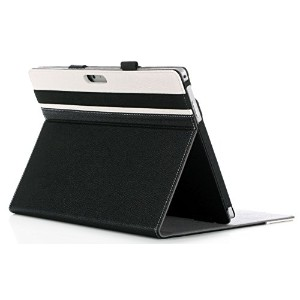 ProCase Premium Folio Cover Case with Stand for Microsoft Surface Pro 3 (Black/White)