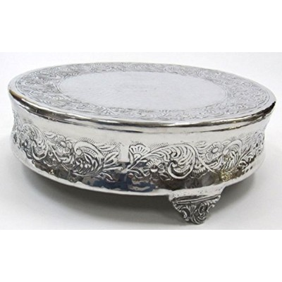 Aluminum Single-Tier Cake Stand, Round - 14 Inches - Wedding Party Cake Display by IOTC [並行輸入品]