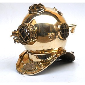 Nautical Divers Helmet Maritime Mark V Deep Diving Solid Brass Helmet by Collectibles Buy [並行輸入品]