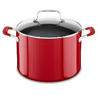 KitchenAid kc2 a80scerアルミテフロン加工の8.0 Quart Stockpot with Lid – Empireレッド、ミディアム