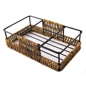 Rectangular Twig & Wire Salt and Pepper Spice Stand Basket by Red Co.