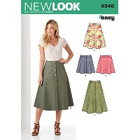 New Look Patterns UN6346A Misses' Easy Skirts, A (8-10-12-14-16-18-20) by New Look