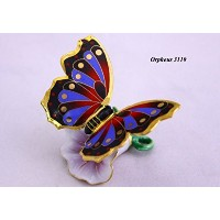 Feng Shui Butterfly-hand Crafted and Decorated Porcelain,figurine 11025. (2)