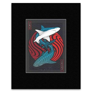 BRAD KLAUSEN ILLUSTRATION - No Fin No Future. Mini Poster - 29.3x22.1cm