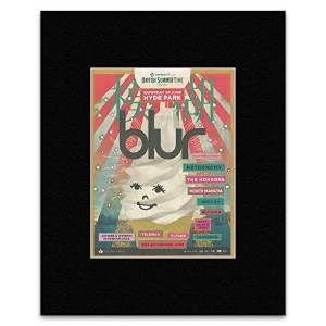 BLUR - Saturday 20th June: Hyde Park 2015 Mini Poster - 28.5x21cm
