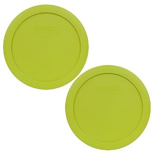 Pyrex 7201-PC Round 4 Cup Storage Lid for Glass Bowls (2, Edamame Green ) by Pyrex